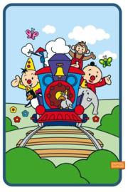 Bumba fleecedeken Trein 110 x 150 cm.