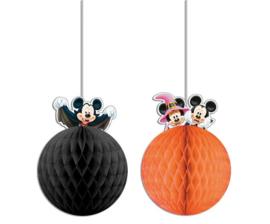 Disney Mickey Halloween honeycomb decoratie  2 st.