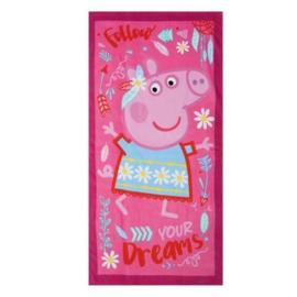 Peppa Pig Follow Your Dreams strandlaken 70 x 140 cm.