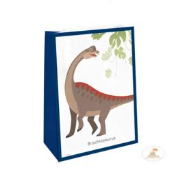 Dinosaurus traktatiezakjes Happy Dinosaur 4 st.