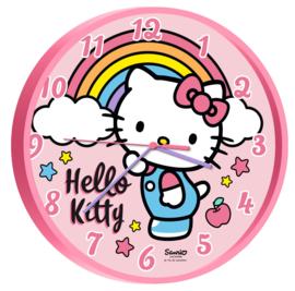 Hello Kitty wandklok ø 25 cm.