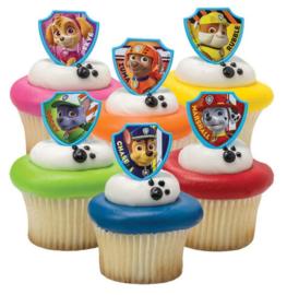 Paw Patrol cupcake ringen 6 st.
