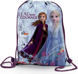 Disney Frozen II gym- zwemtas Lead with Courage 38 x 30 cm.