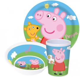 Peppa Pig ontbijtset melamine