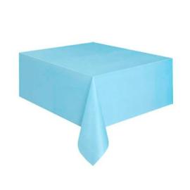 Licht blauw tafelkleed 1,37 x 2,74 mtr.
