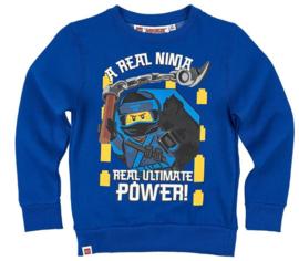 Lego Ninjago sweatshirt blauw mt. 128