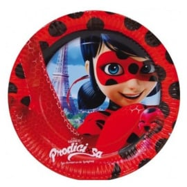 Ladybug bordjes party ø 23 cm. 8 st.