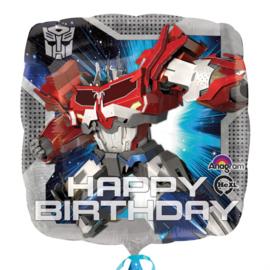 Transformers happy birthday folieballon 43 cm.
