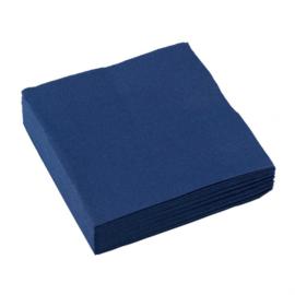 Servetten royal blue 25 x 25 cm. 20 st.