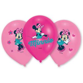 Disney Minnie Mouse bowtique ballonnen ø 27,5 cm. 6 st.