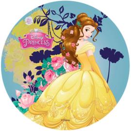 Disney Princess Belle ouwel taart decoratie ø 21 cm.