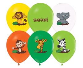 Safari ballonnen ø 30 cm. 5 st.