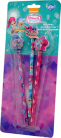 Shimmer and Shine potlood met gum 3 st.