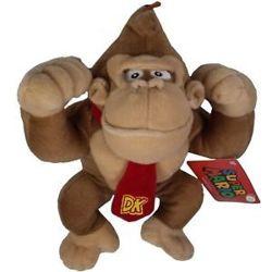 Super Mario Bros pluche knuffel Donkey Kong 25 cm.