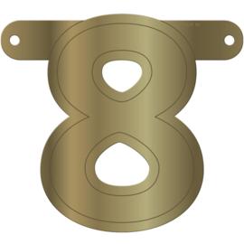 Cijfer banner 8 goud