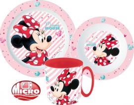 Disney Minnie Mouse diner set 3-delig