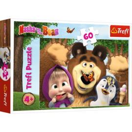 Masha and the Bear puzzel 60 stukjes