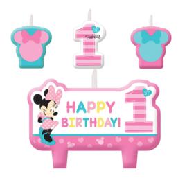 Disney Baby Minnie Mouse verjaardag taart kaarsjes set