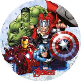 Avengers taart frosting decoratie ø 18,5 cm.