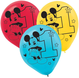 Disney Mickey Mouse 1e verjaardag ballonnen ø 30,4 cm. 15 st.