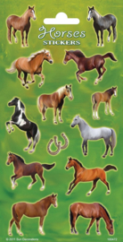 Paarden stickervel A 20 x 10 cm.
