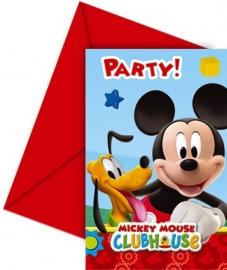 Disney Mickey Mouse uitnodigingen 6 st.