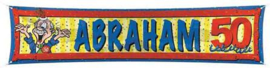 Abraham straatbanner 180 x 40 cm.