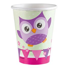 Happy Owl bekertjes 8 st.