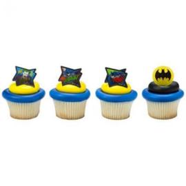 Batman cupcake ringen 8 st.