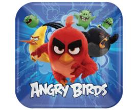 Angry Birds bordjes 22,9 x 22,9 cm. 8 st.