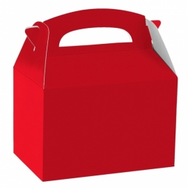 Party box rood 12 x 10 x 15 cm.