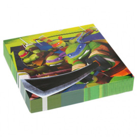Ninja Turtles servetten 33 x 33 cm. 20 st.