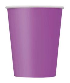 Pretty Purple wegwerp bekertjes 27 cl. 8 st.