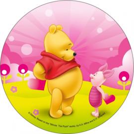 Disney Winnie de Poeh en Knorretje ouwel taart decoratie ø 21 cm.