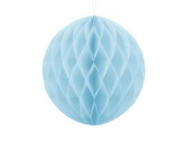 Honeycomb bal party licht blauw ø 30 cm.