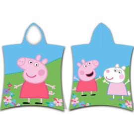 Peppa Pig en Suzy Sheep badponcho 50 x 115 cm.