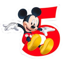 Disney Mickey Mouse 2D 5e verjaardag taart kaars