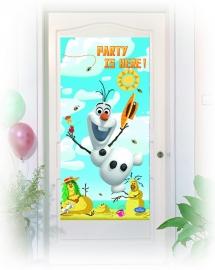 Disney Frozen Olaf deurposter summer 75 x 150 cm.