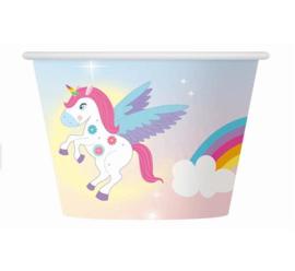 Rainbow Unicorn ijs-snoep bakjes 6 st.