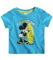 Disney Mickey Mouse t-shirt lichtblauw Summertime mt. 68