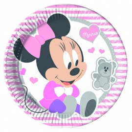 Disney Baby Minnie Mouse en beer bordjes ø 23 cm. 8 st.