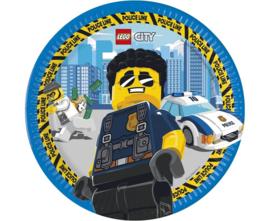 Lego City politie bordjes ø 23 cm. 8 st.