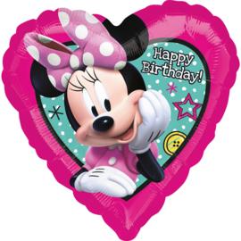 Disney Minnie Mouse folieballon happy birthday 43 cm.