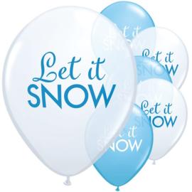 Let it Snow ballonnen ø 28 cm. 6 st.