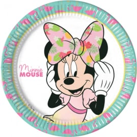 Disney Minnie Mouse tropical bordjes ø 23 cm. 8 st.