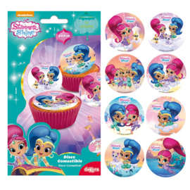 Shimmer and Shine eetbare frosting cupcake plaatjes ø 3,4 cm. 16 st.