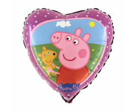 Peppa Pig folieballon hearts 45 cm.