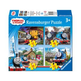 Thomas de Trein puzzel 4 in 1 (12-16-20-24 stukjes)