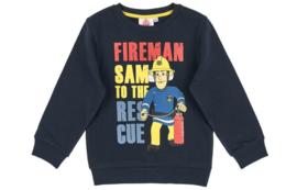 Brandweerman Sam sweatshirt blauw mt. 128