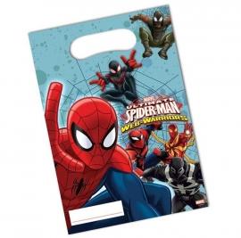 Spiderman Web-Warriors traktatiezakjes 6 st.